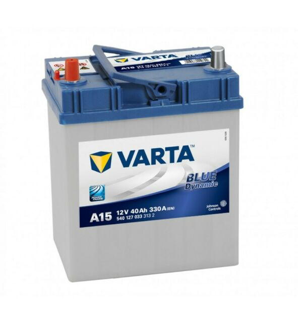 Batería Varta A15 - 40Ah 12V 330A. 187x127x227
