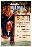 1890s Pall Mall Magazine Paris Vintage American Art Advertisement Poster Print