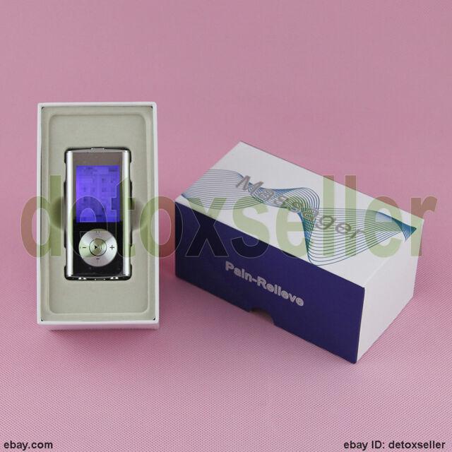 Portable 8 Mode TENS EMS Unit Mini Electronic Digital Pulse Massager Extra Pads