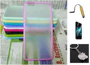 Rosa-TPU-Silicone-Bumper-amp-Trasero-Funda-para-el-iPhone-6-Pantalla-Lapiz-tactil
