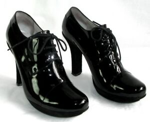Détails sur FREE LANCE Bottines low boots talons 10 cm cuir verni noir 37 TRES BON ETAT