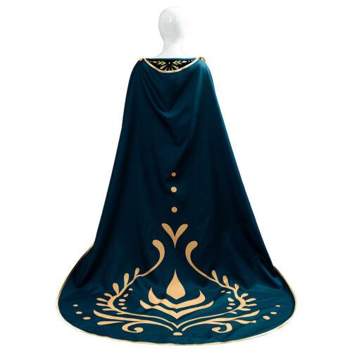Details about  /Adult Kid Anna Queen Dark Green Cosplay Costume Dress Female Long Skirt