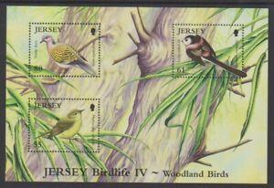 Jersey-2010-Birdlife-Bois-Oiseaux-Feuille-MNH-Sg-MS1502