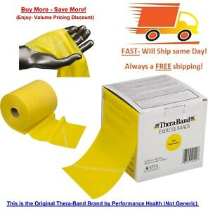 50 Yards Roll Each Original Thera-Band Resistance Bands Free Fast Shipping