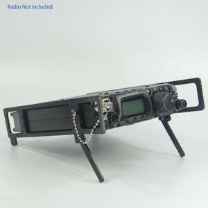 Black-Side-plate-Bracket-Stand-Rails-support-leg-yaesu-FT-817-FT-817ND-FT-818-HF