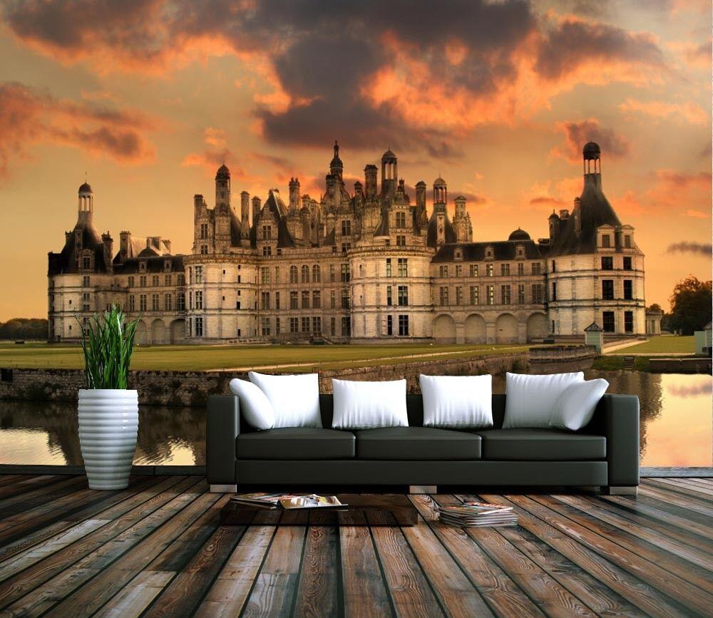 3D Schloss Abenddämmerung 85 Tapete Wandgemälde Tapete Tapeten Bild Familie DE | Lebhaft und liebenswert  | Qualität und Verbraucher an erster Stelle  | Realistisch