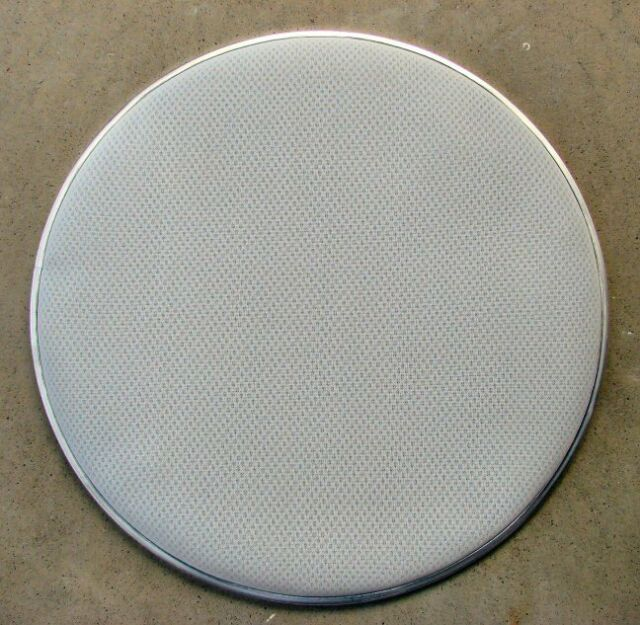 """22"""" White 3-Ply Mesh Bass Drum Head Electronic Vdrum Heavy Duty Like Traditional"""