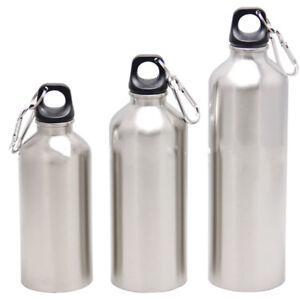 Silber-Edelstahl-Wasser-Flasche-Outdoor-Sport-Radfahren-Camping-Bottle-750ml