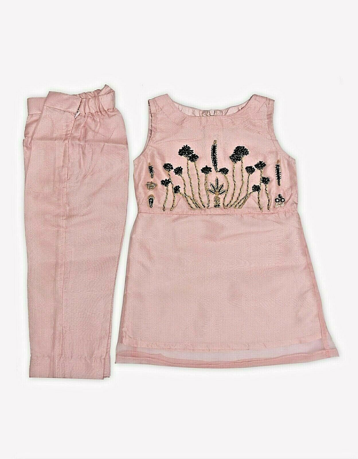 Pakistani/ Indian girl's clothes, Minnie Minors Boutique, Baby pink, Pret wear