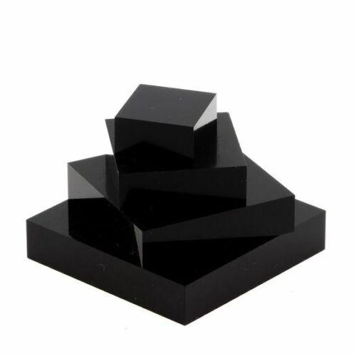 Socle présentoir acrylique support pour minéraux Noir 40 x 40 x 20 mm 5 pièces