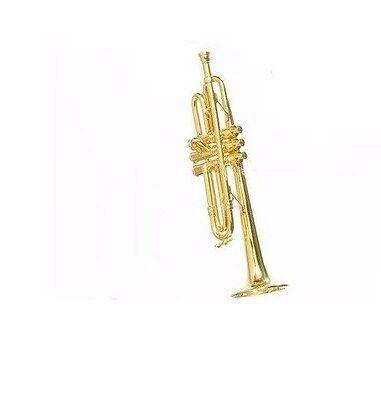 KURT S ADLER RED /& GOLD GLITTER TRUMPET MUSICAL INSTRUMENT CHRISTMAS ORNAMENT