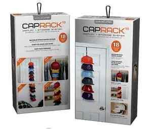 Curve Cap Rack System 18 Caps Storage - Snapback Hat NBA NFL CapRack