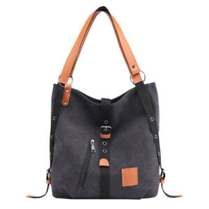Women-Canvas-Casual-Shoulder-Bag-Travel-Handbag-Ladies-Zipper-Large-Capacity