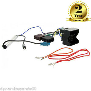 ctvw radio wiring harness aerial for vw golf mk eos fox image is loading ct20vw02 radio wiring harness aerial for vw