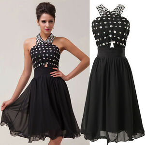 Short-Graduation-Bridesmaid-Formal-Prom-Gown-Party-Evening-Chiffon-Prom-Dresses