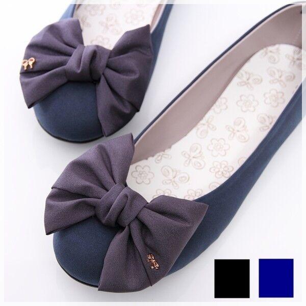 BN Satin Wedding Bowed Comfy Darling Ballerinas Ballet Flats Shoes Blue Black