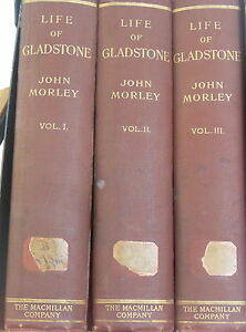 Life-of-Gladstone-by-John-Morley-Vol-1-3-Complete-Rare-Books