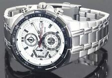 Import CASIO EFR-539D-7AV CHRONOGRAPH MENS WHITE WATCH