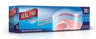 Sealpro Plastica Zip Seal Cibo Borse Di Stoccaggio Congelatore Borse Gallone (30)-