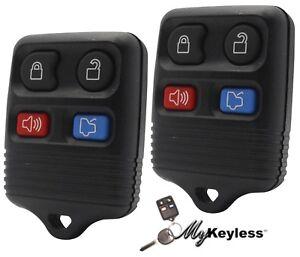 New-Ford-Lincoln-Mercury-Keyless-Entry-Car-Remote-Alarm-Transmitter-Key-Fob-Pair