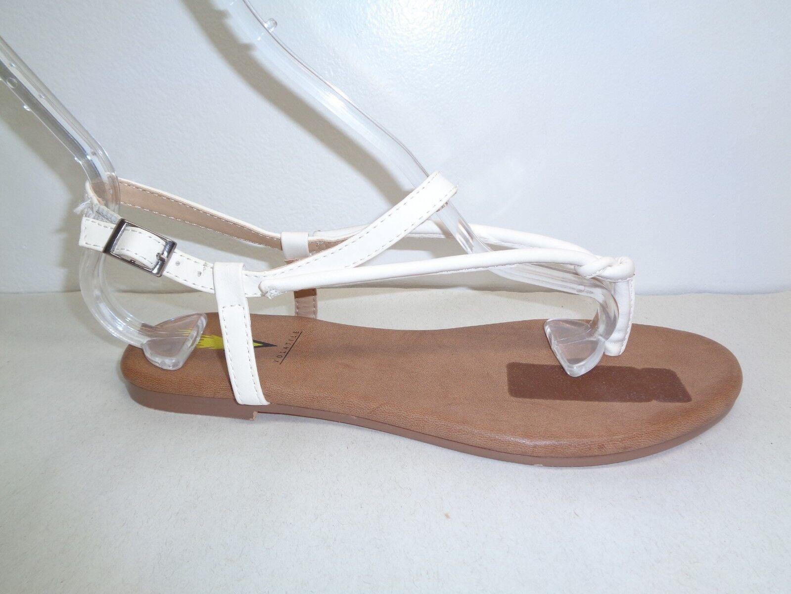Volátiles Talla 7 Laury Laury Laury blancoo Tanga Charol Sandalias Nuevos Mujer Zapatos  Con 100% de calidad y servicio de% 100.