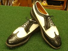 DuPont Corfam Black & White wingtip golf shoes size 9 D good shape MUST SEE