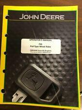 John Deere Operators Manual 704 Pull Type Wheel Rake Ome96906