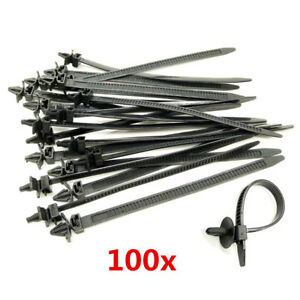 100x mixed nylon cable tie bundled car wire harness line. Black Bedroom Furniture Sets. Home Design Ideas