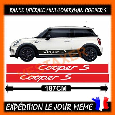 2 bandes Latérales Mini Cooper S Sport Couleur au choix