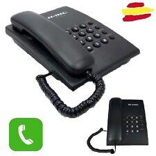 Telefono fijo libre funciones negro barato mesa pared cable oficina smartphone