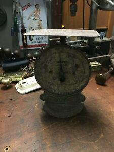 Antique Salter Cast Iron 22lb Postal Parcel Spring Scale