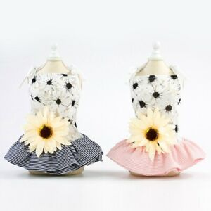 Small-Pet-Puppy-Lace-Skirt-Dog-Cat-Princess-Tutu-Sunflower-Dress-Summer-Clothes