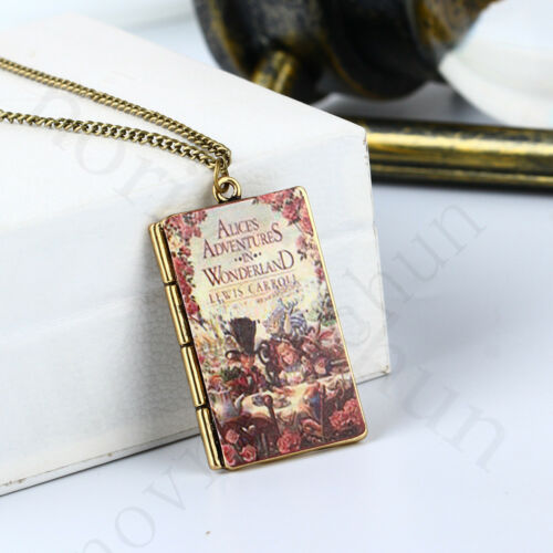 Harry Potter Movie Alice Book Pendant Necklace Jewelry Collection Toy Accessorie