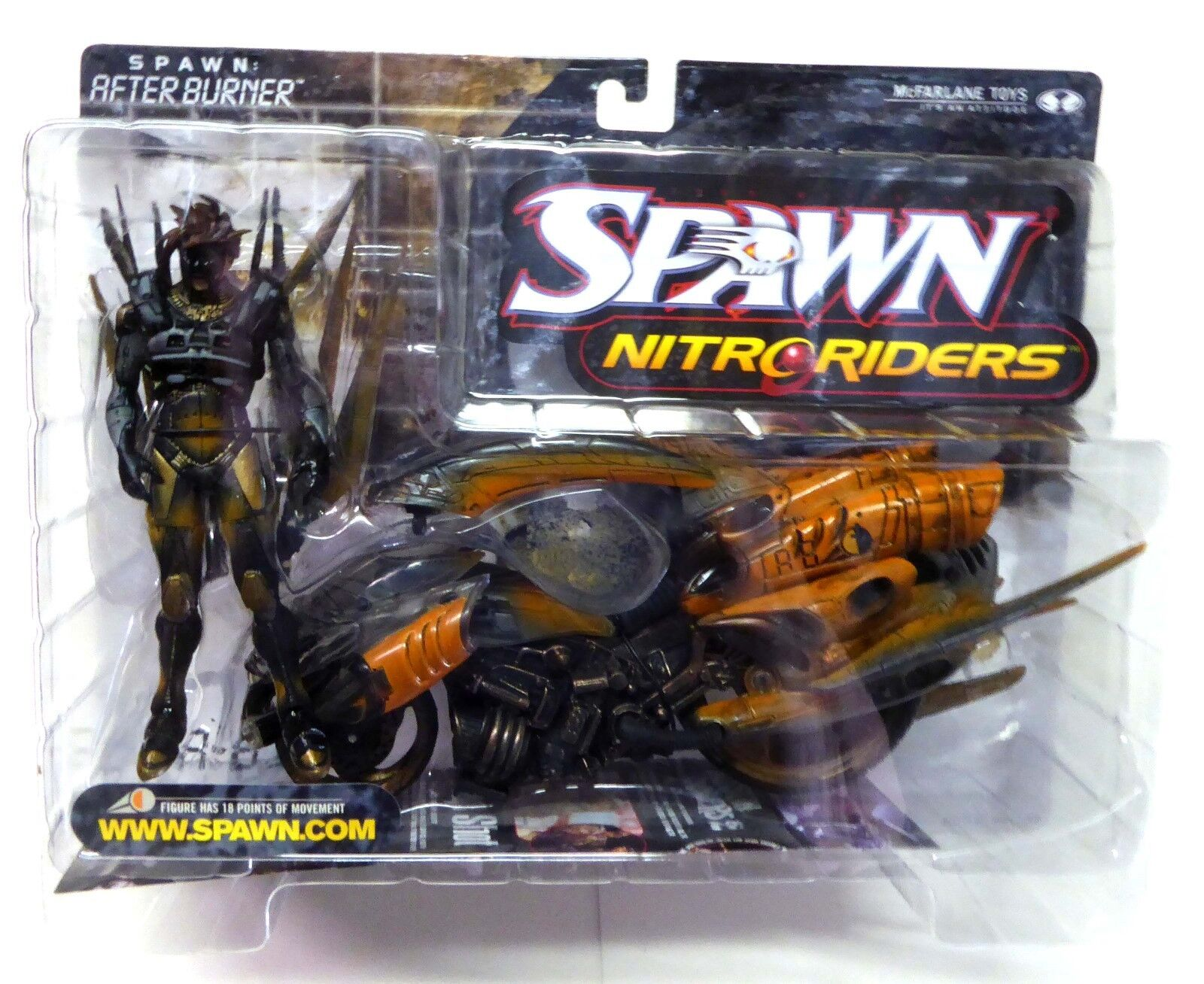 Nitro Riders Afterburner Action Figure McFarlane Toys Spawn Series 16 Nuovo 1999