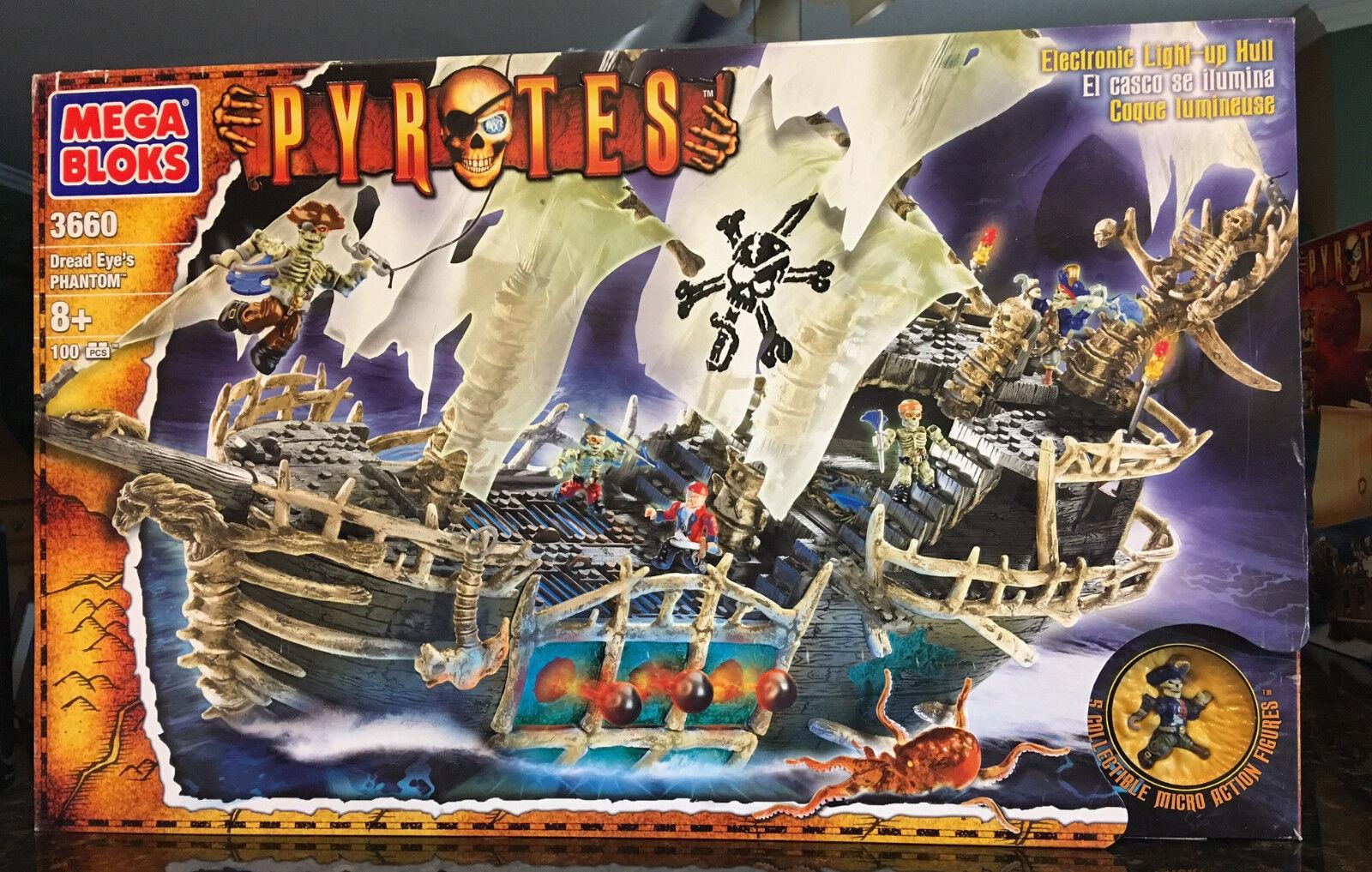 Bloques Mega Blok 3660 temible pirata fantasma del ojo bloque conjunto Sellado En Caja Original