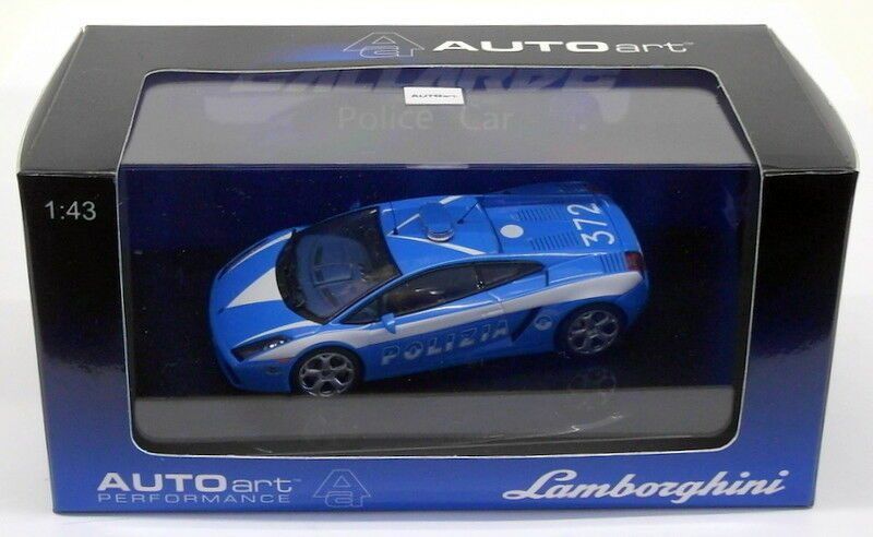 Autoart 1 43 Scale Diecast 54576 - Lamborghini Gallardo Police Car - Blau