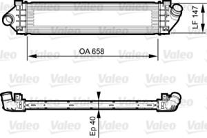 VALEO LADELUFT Refroidisseur 818239 pour FORD