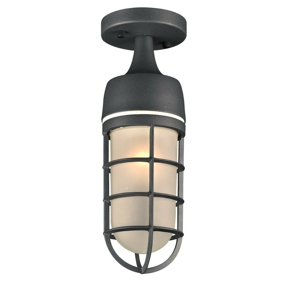 PLC Lighting 1 1 1 Light Outdoor Fixture Cage Collection Bronze - 8052BZ 2fb293