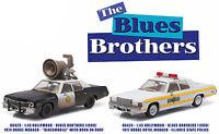 1974 & 1977 Dodge Monaco Illinois Police & Blues Brothers Set 1/43 Greenlight