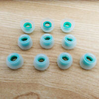 10  Earphones Replacement Skullcandy in-ear Silicone EARBUD Tips Green-clear M