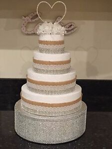 Image Is Loading Crystal Bling Diamante Cake Stand Display Pedestal