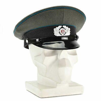 Original German NVA visor hat East German military police peaked cap white
