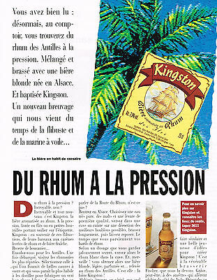 Publicite Advertising 054 1993 Kingston Rhum à La Pression Other Breweriana Collectibles