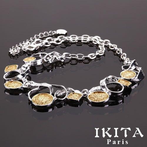 Luxus Statement Kette IKITA Paris Halskette Emaille//Metall Collier Choker
