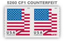 5260 (CF1) Pair Postal Counterfeit US Forever Flag Design of 2018 MNH - Buy Now