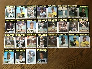 1986-PITTSBURGH-PIRATES-Topps-COMPLETE-Baseball-Team-Set-28-Cards-MAZZILLI-PENA