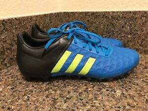 bdb194a31d8 adidas Ace 15.2 FG AG Soccer Cleats Blue Black Yellow B32833 Men Sz ...