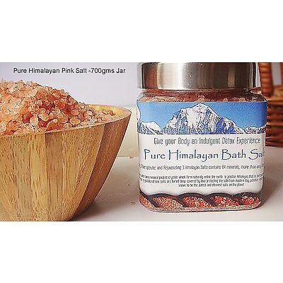 GJ's Freshly Mined 100% Pure Himalayan Pink Bath Salts (700gms Jar )