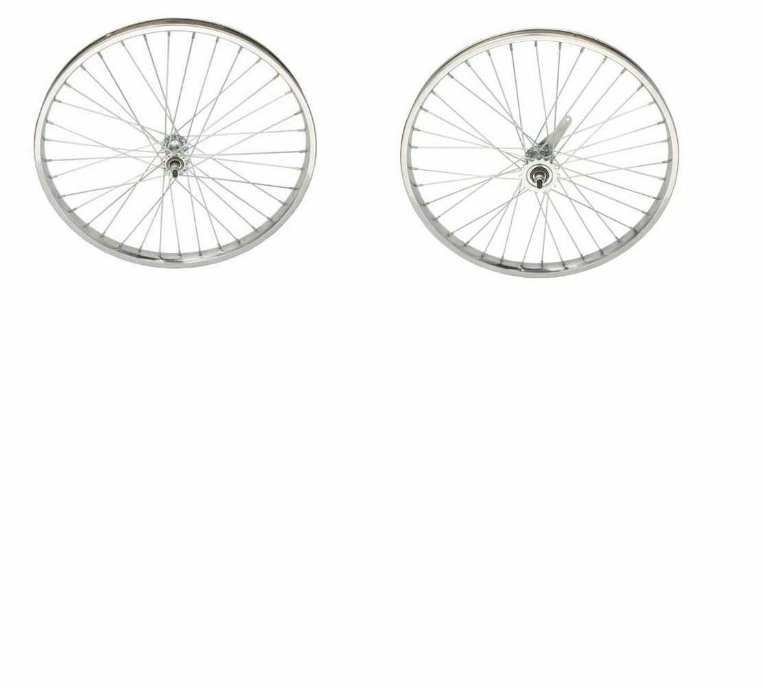 24  X 2.125 Steel Wheelset  12G HEAVY DUTY Spokes Coaster Brake New  70% off