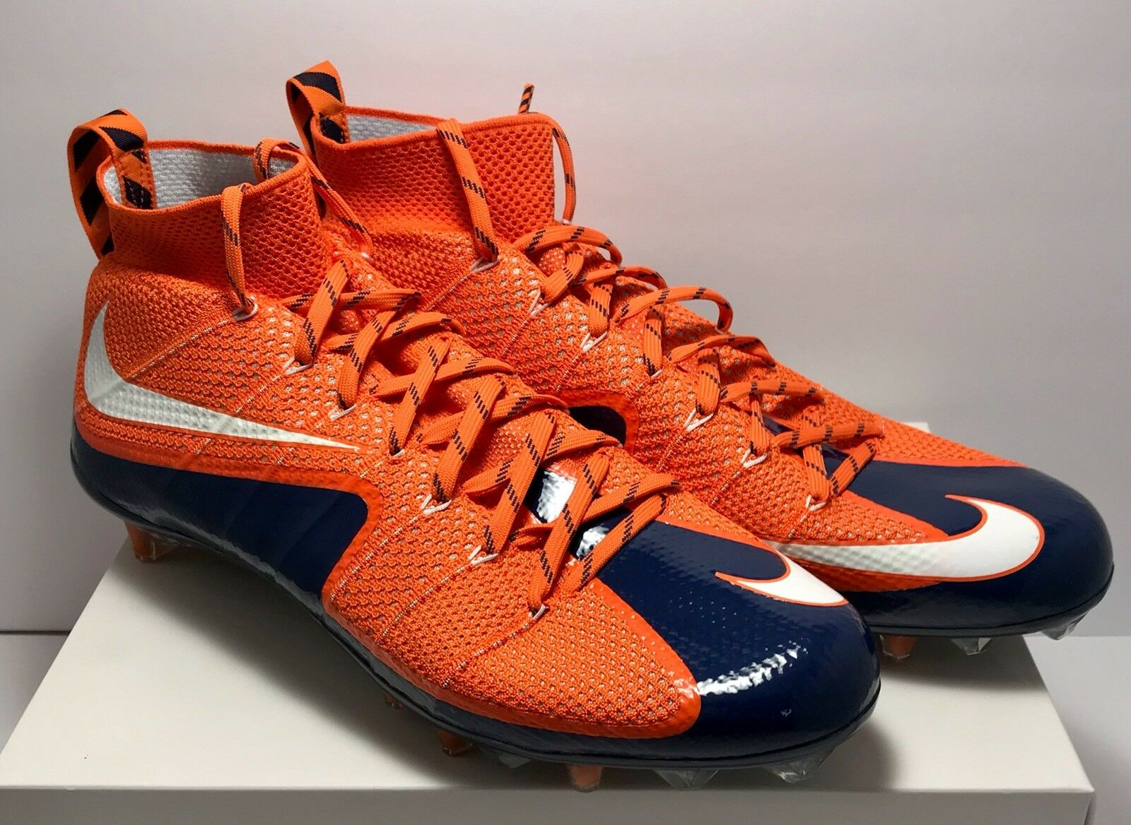 Nike Mens Size 15 Untouchable 1 Football Cleats orange blueee New Rare  200